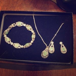 Sterling silver costume jewlry set
